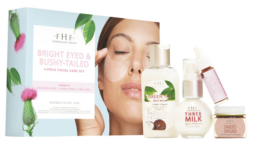 FHF Bright Eyed and Bushy-Tailed 4 Piece Facial Care Kit