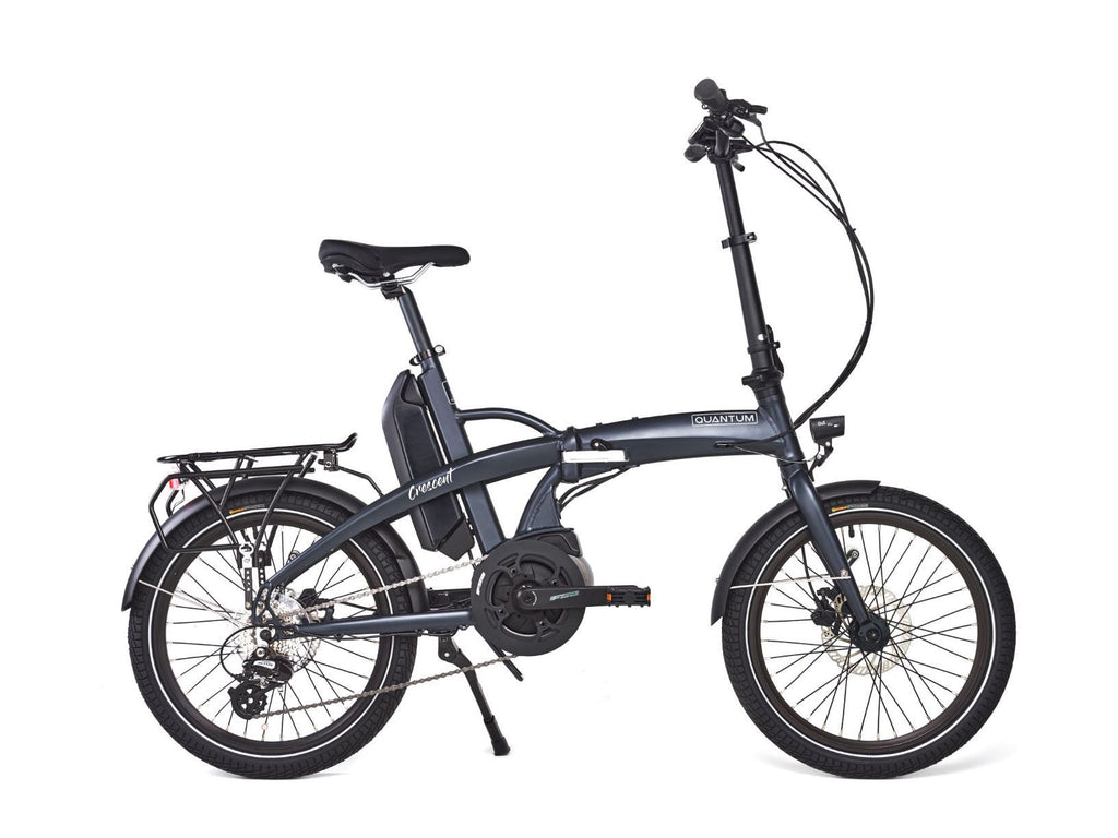 Quantum Crescent Folding electric bike Ebike Quantum Thunder Grey