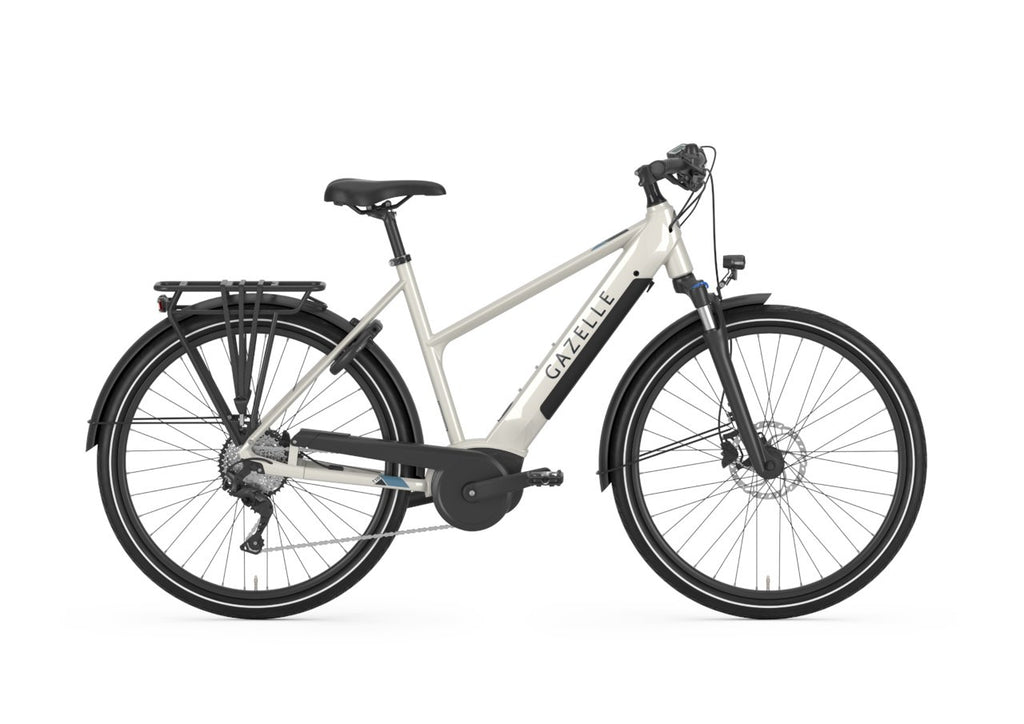 Gazelle Medeo T10 HMB - Mid step Ebike Gazelle Mid-step 45cm-18in Ivory