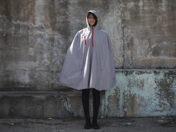 Cleverhood Electric Gingham Rain Cape
