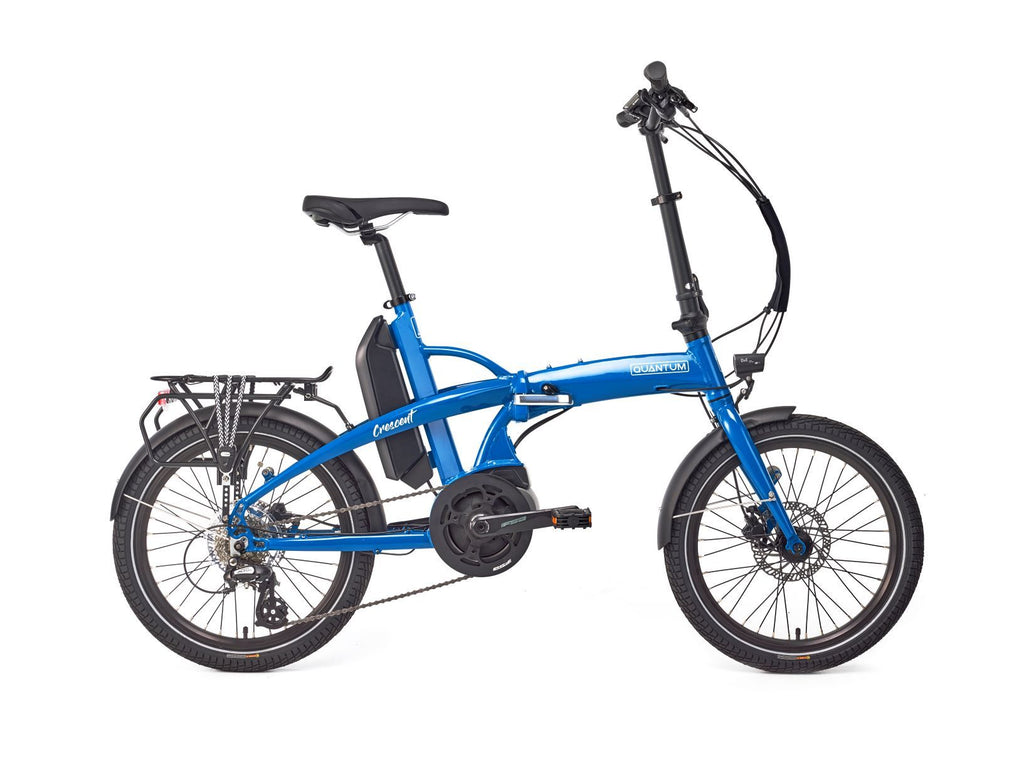 Quantum Crescent Folding electric bike Ebike Quantum Royal Blue