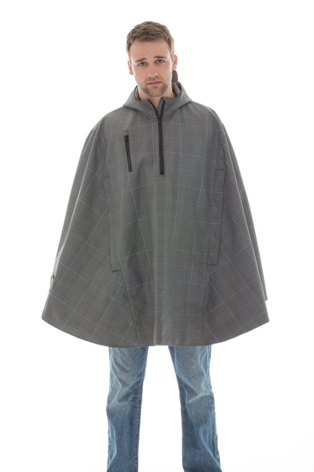 Cleverhood Electric Houndstooth Rain Cape