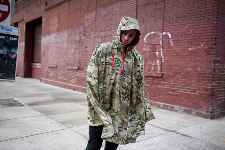 Cleverhood Weetamoe Camo High Performance Rain Cape