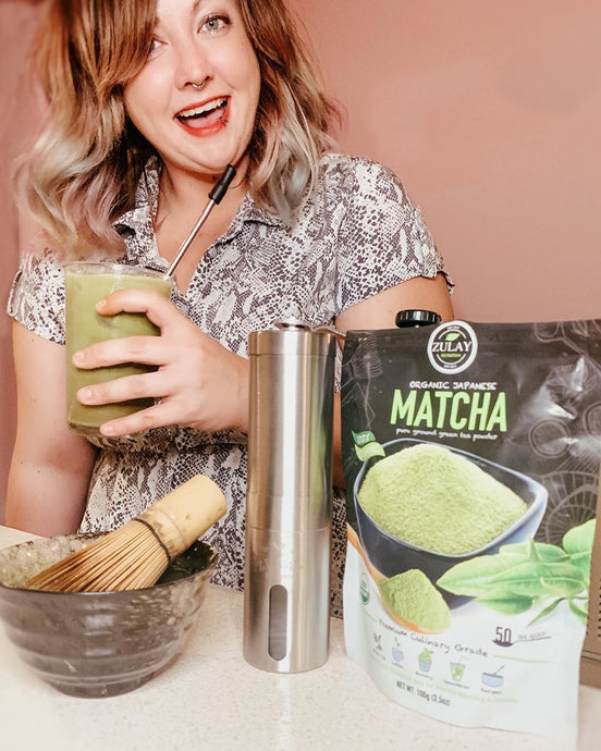 Celabrating National Iced Tea Day with Jen Cox and Her Zulay Matcha Powder!