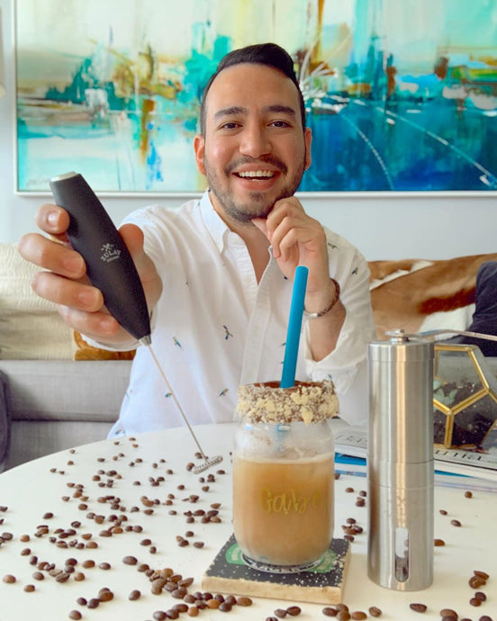 Gabriel Soto Stimulates His Brain Every Morning By Drinking A Frothy Coffee Using The Zulay Milk Frother and Coffee Grinder!