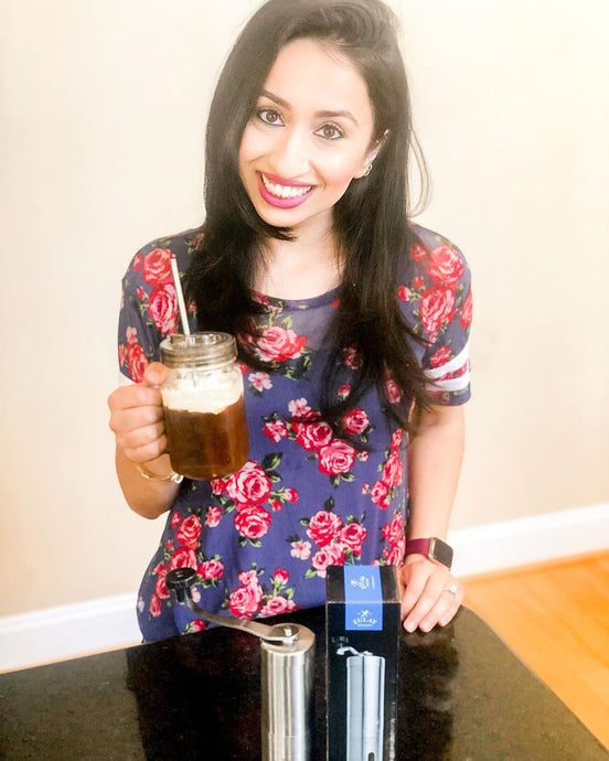 Manal Gets The Full Flavor And Aroma From Grinding Her Coffee Beans Using The Zulay Coffee Grinder