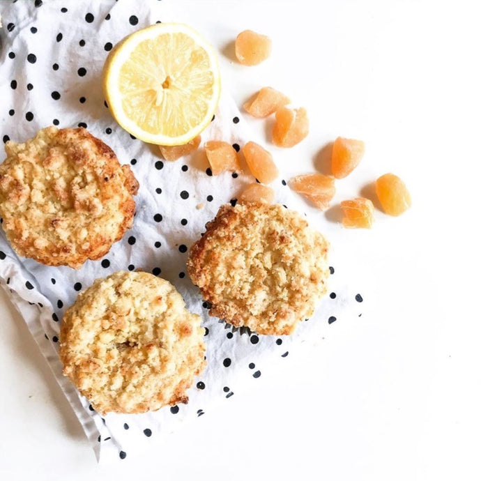 Lemon Candied-Ginger Muffins