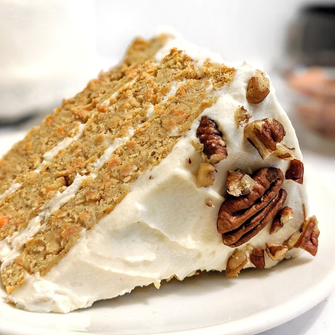 Carrot Cake with Protein Yogurt Frosting