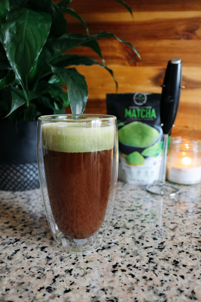 Collagen Peptide Blonde Roast Coffee with Matcha Whip Cream