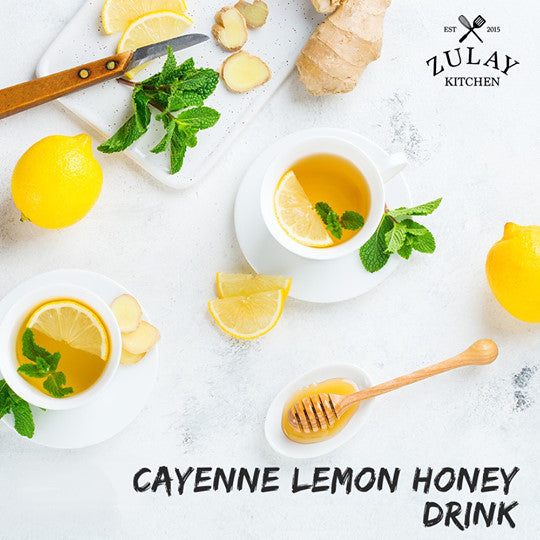 Cayenne Lemon Honey Drink Recipe from Zulay Kitchen
