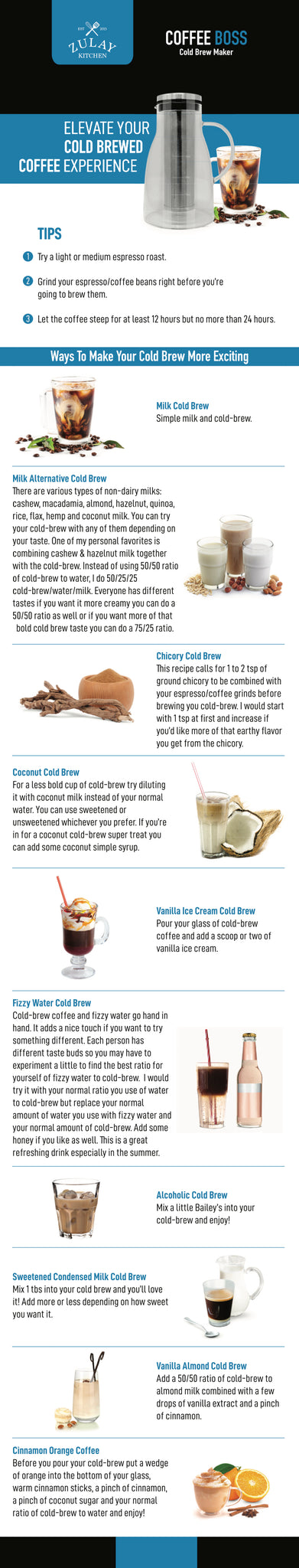 Cold Brew Coffee Tips by Zulay Kitchen