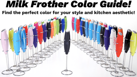 milk frother color guide