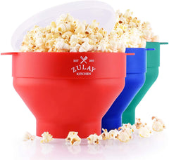 Collapsible Silicone Popcorn Maker
