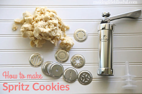 How to Make Spritz Cookies with the Zulay Kitchen Cookie Press