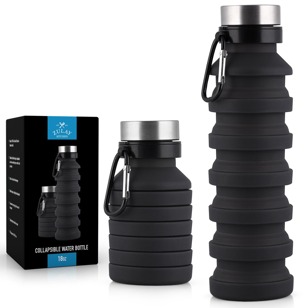 Portable Water Bottle Collapsible and Foldable Design - Zulay Kitchen