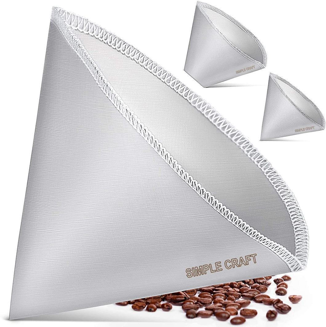 Simple Craft Fine Mesh Stainless Steel Reusable Pour Over Coffee Filter