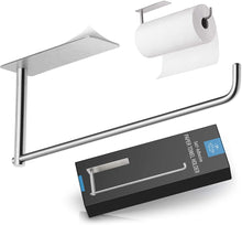Load image into Gallery viewer, Self Adhesive Paper Towel Holder - Stainless Steel Wall Mount Design - Rustproof & Durable - Fits All Roll Sizes