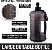 Load image into Gallery viewer, Hydration Nation 1 Gallon Water Bottle With Motivational Time Reminder