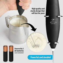 Load image into Gallery viewer, Milk Frother COMPLETE SET - Includes Frother, Coffee Decorating Stencils and Frothing Cup - Zulay Kitchen
