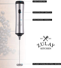 Load image into Gallery viewer, High Powered Rechargeable Milk Frother - Zulay Kitchen