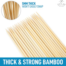 "Load image into Gallery viewer, Zulay Bamboo Wooden Skewers - 17.5"" Marshmallow Roasting Sticks & Barbeque Skewers - Authentic Bamboo Sticks & Smores Sticks for Grilling Hotdogs, Kebabs, BBQ, & More"