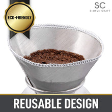 Load image into Gallery viewer, Simple Craft Fine Mesh Stainless Steel Reusable Pour Over Coffee Filter
