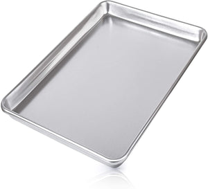 "Large Aluminum Baking Pan For Oven - Half Sheet (13"" x 18"")"