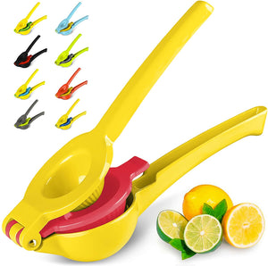 #1 Rated Premium Quality Metal Lemon Lime Squeezer - Manual Citrus Press Juicer