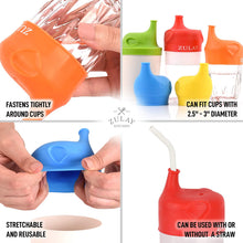 Load image into Gallery viewer, Stretchable Silicone Sippy Cup Lids With Soft Spout (5 Pack)