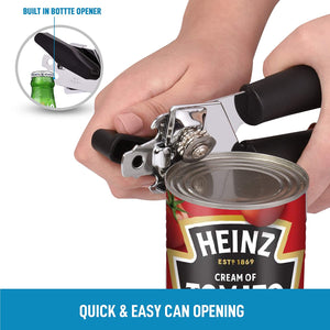handheld can opener with built in bottle opener