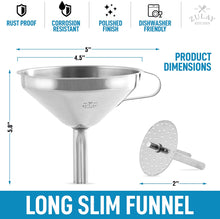 Load image into Gallery viewer, Kitchen Funnel With Removable Filter For Filtering or Transferring Liquids & Dry Ingredients