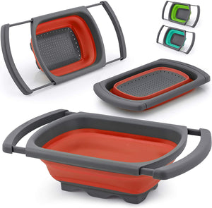 Collapsible Colander With Extendable Handles