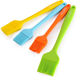 Pastry Brush (Set of 4) - Assorted Heat Resistant Silicone Basting Brush Ideal For BBQ, Marinating, or Spreading Butter & Oil