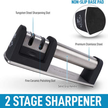 Load image into Gallery viewer, Knife Sharpener for Straight and Serrated Knives - Easy Manual Sharpening