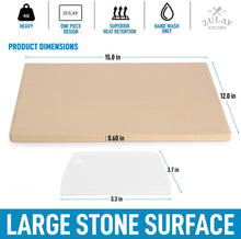 Load image into Gallery viewer, Large Pizza Stone for Oven (15x12 inch) - Heavy Duty Rectangular Pizza Stone for Grill & Baking