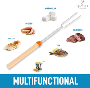 Long Marshmallow Roasting Sticks Extendable Design (32 Inch)