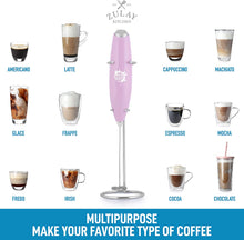 Load image into Gallery viewer, Zulay Milk Boss Milk Frother Electric Foam Maker - Battery Operated Coffee Frother For Lattes, Cappuccino, Frappe, Matcha, And More (Batteries Included)