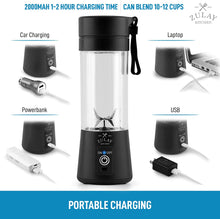 Load image into Gallery viewer, Zulay Portable Blenders For Shakes And Smoothies - USB Rechargeable Portable Smoothie Blender Small For Travel