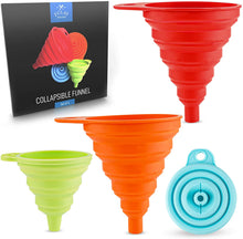 Load image into Gallery viewer, Silicone Funnels Set With Narrow Mouth