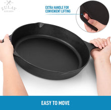 Load image into Gallery viewer, Heavy Duty Seasoned Iron Cast Skillet For Indoor & Outdoor Cooking