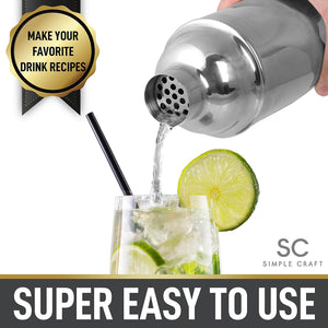 Simple Craft Premium Stainless Steel Cocktail Shaker