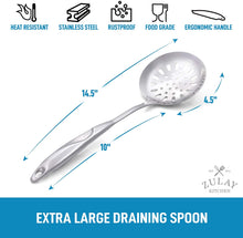 Load image into Gallery viewer, Zulay Kitchen Stainless Steel Skimmer Spoon