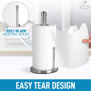 Paper Towel Holder for Standard & Large Sized Rolls