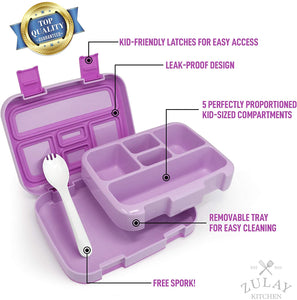 Kids Bento Box Lunch Box - Durable, Leak-Proof