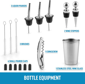 Zulay 24-Piece Stainless Steel Bartender Set Kit