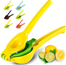 Load image into Gallery viewer, #1 Rated Premium Quality Metal Lemon Lime Squeezer - Manual Citrus Press Juicer