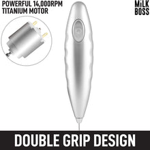 Load image into Gallery viewer, Milk Boss (Batteries Included) Double Grip Milk Frother- Electric Handheld Foam Maker For Coffee, Latte, Matcha & More