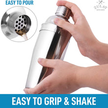 Load image into Gallery viewer, Cocktail Shaker with Built-in Strainer For Bartending & Homebars (24oz)