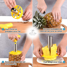 Load image into Gallery viewer, Pineapple Corer and Slicer Tool Set - Heavy Duty Stainless Steel Pineapple Cutter