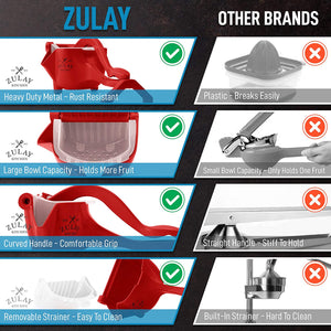 Pomegranate Manual Juicer- Heavy Duty Juice Press Squeezer with Detachable Lever & Removable Strainer
